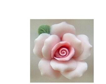 """1 Dozen Porcelain Roses - Light Pink - 1"""""""
