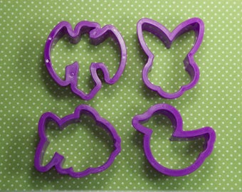Collectable 4 Pc. Plastic Easter Religious Cookie Cutter Set