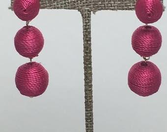 Ball drop earring