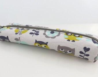 Box Pencil Pouch -  Long Box Pencil Cosmetic Pouch - Medium Size