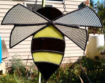 Honey Bee Sun Catcher Window Art