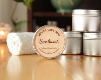 Sunburst Whipped Body Butter, Lotion, Gift for Her, Spa Set, Shea Butter, Body Whip, Cocoa Butter, Handmade Lotion, Made in Michigan