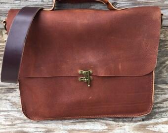 Messenger bag mens bag womens bag laptop bag briefcase leather bag brown bag
