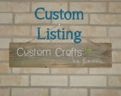 CUSTOM Listing for Heidi Woodall