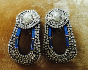 A stunning pair of handmade M&J Hansen Earrings, signed and dated