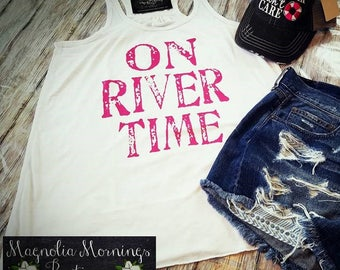 On River Time Tank Boho/Gypsy/Western Tank