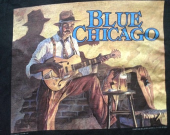 Vintage 90s Chicago blues t shirt size s/m