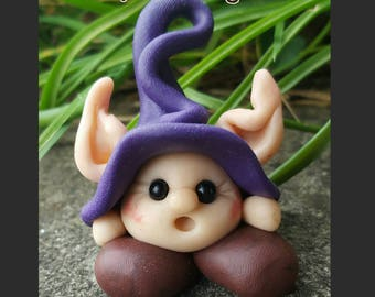 Nobody's Listening. Inspirational Ooak elf/goblin/fairy statue.
