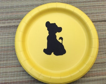 Lion King birthday party/Lion King baby shower decorations/Baby Simba Lion King/Lion King party plates/Lion King plates/Simba centerpieces