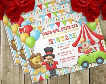 Circus Birthday Party Invitation