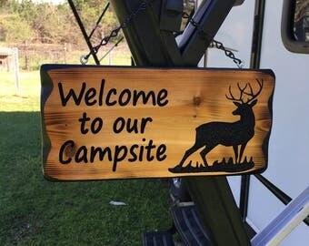 Deer Camping Sign