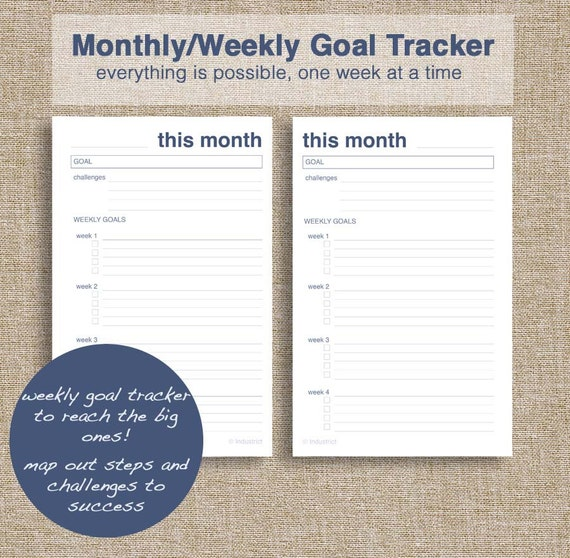 Monster image in monthly goal tracker printable