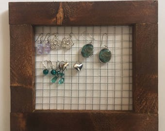 Earring display organizer Home use or jewelry vendor display