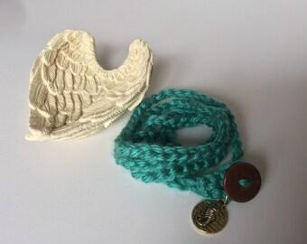 Crochet Seahorse Charm Bracelet