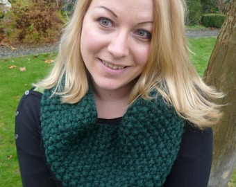 Loop, cowl green, knit cowl, scarf