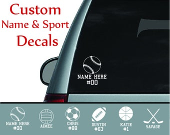 Custom Sports Car Decals/Stickers with any Name and Number - Personalize It!