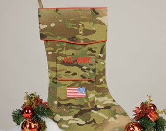 Army OCP Christmas Stocking