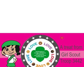 Personalized Girl Scouts Treat Bag Toppers