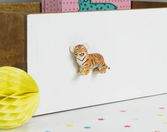 Tiger Drawer Knob - Tiger Gift - Animal Knobs -  Knobs for kids rooms - Nursery Knobs - Safari nursery decor - Animal nursery - Tiger Decor