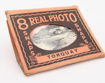 Torquay, Devon Real Photo Snaps in original packaging from 1930's – Eight in total in good condition