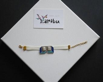 Wooden cubes bracelet
