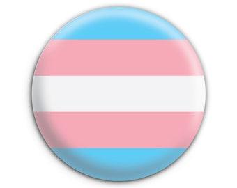Transgender Flag Pride Pinback Button // Pin // Badge