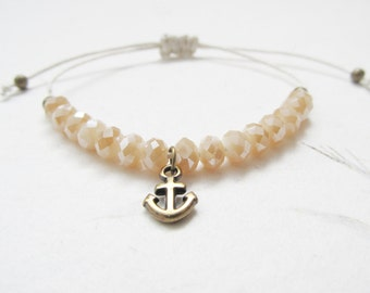 Anchor bracelet, refuse to sink bracelet, nautic bracelet