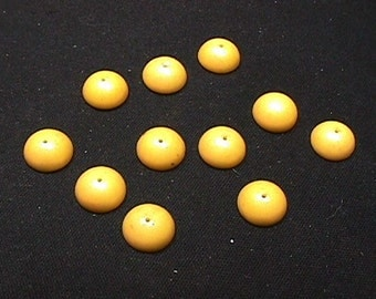 Ten Vintage Bakelite ? Half Round Drilled Beads