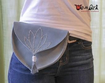 Handmade Genuine Leather Hip Belt Purse Fanny Bag
