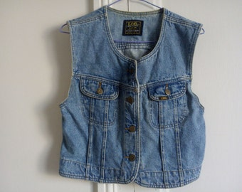 Jeans vintage sleeveless jacket