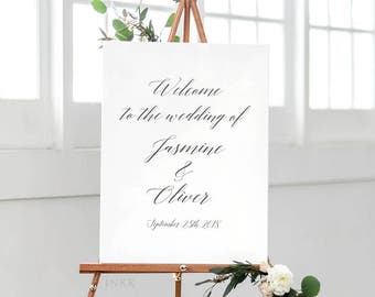 Printable Wedding Signs Welcome - Welcome Sign - Wedding Signage - Welcome Sign Wedding - Welcome Sign for Wedding PDF - (Item code: P418)