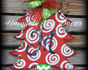 Christmas Tree Door Hanger, Door Hanger, Christmas Door Hanger, Tree Door Hanger