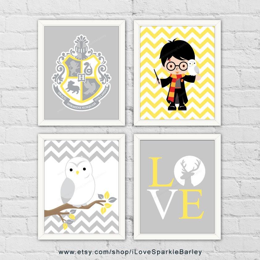 harry potter kinderzimmer dekor hogwarts kamm wand dekor. Black Bedroom Furniture Sets. Home Design Ideas
