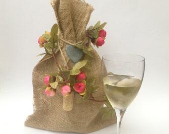 Wine Bag, Gift Bag Hessian, Burlap Wine Bag, Bottle Bags, Burlap Bags, Hessian Bags, Gift Bags, Hostess Gift, Bottle Covers, Wine Gifts