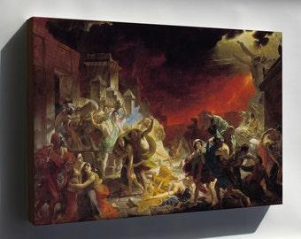 Canvas 24x36; Last Day Of Pompeii By Karl Briullov