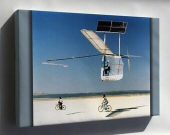 Canvas 24x36; Gossamer Pinguin Solar Plane 1979