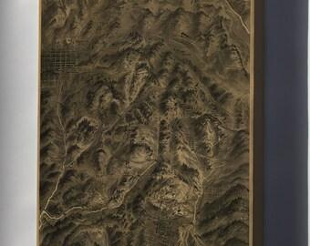 Canvas 24x36; Birdseye View Map Of Cripple Creek Gold Mining Camp, Colorado