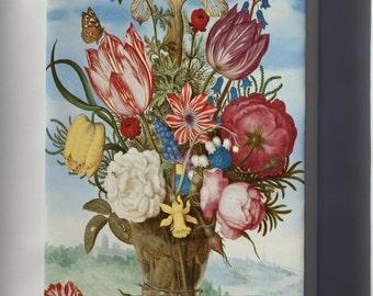 Canvas 24x36; Ambrosius Bosschaert - Bouquet Of Flowers On A Ledge -
