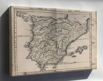 Canvas 16x24; Map Of Spain And Portugal 1513