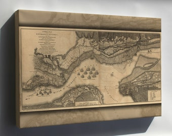 Canvas 16x24; Map Of The Environs Of Quebec 1768