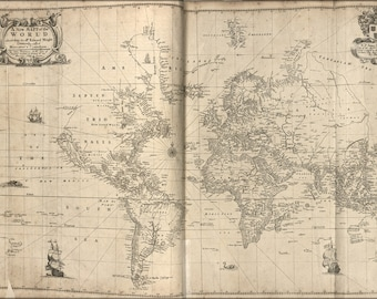 16x24 Poster; Map Of The World 1700