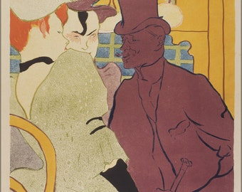 16x24 Poster; Henri De Toulouse Lautrec, French Flirt An Englishman At The Moulin Rouge