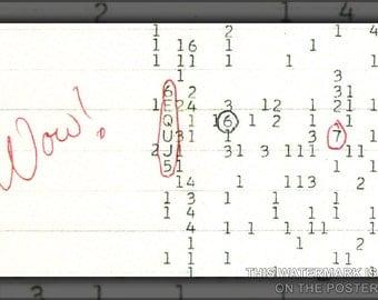 16x24 Poster; Wow Signal Seti