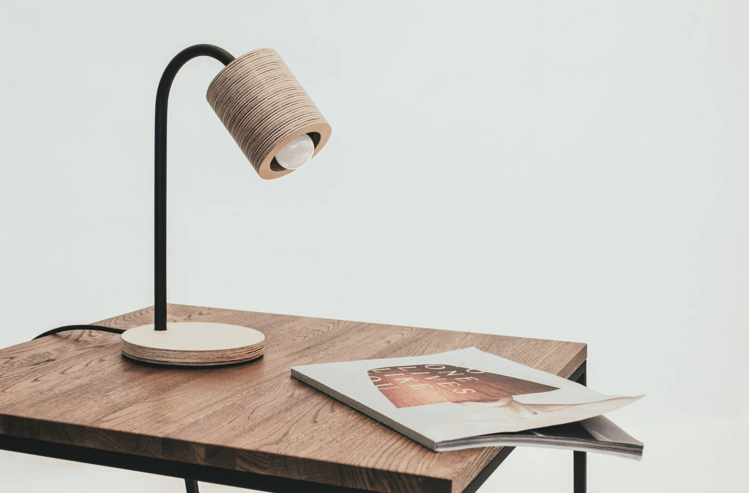 C light table simple table lamp made of plywood and metal zoom geotapseo Choice Image