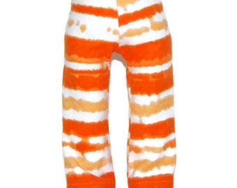 """Orange Tie Dye Flannel Pajama Bottoms - Doll Clothes fits 18"""" American Girl Dolls"""