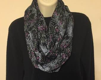 Soft lightweight infinity scarf