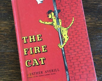 1960 The Fire Cat by Esther Averill / Vintage Children's Hardcover / I Can Read Book