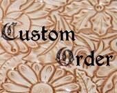 Leather journal for custom order