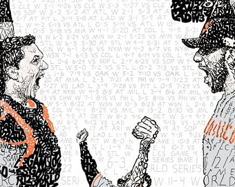 San Francisco Giants 2014 World Series - Baseball Art - Man Cave - SF Giants - Baseball Gift - SF Giants Gifts - San Francisco Wall Art