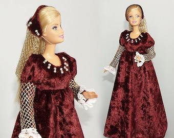Renaissance Barbie gown - handmade